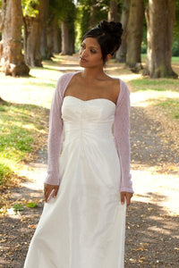 Cashmere knit bolero for brides with 3/4 sleeve for weddings