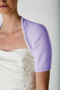 Bridal coverup knitted with angora for your bridal gown