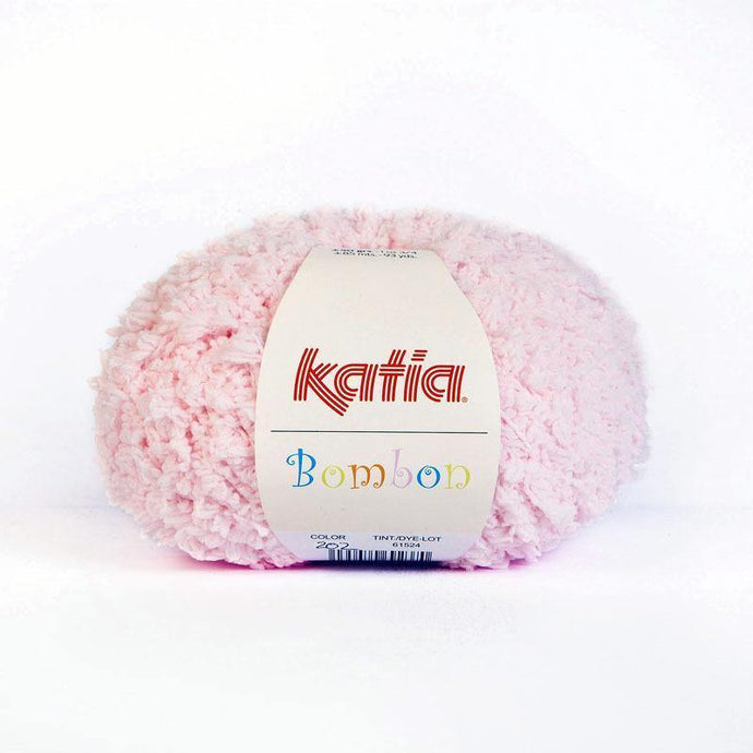 Bombon wool from katia white and rose fluffy