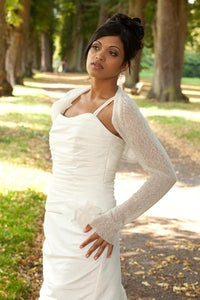 Wedding knit bolero ivory and white for US Brides