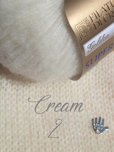 cashmere cream for a knit stole