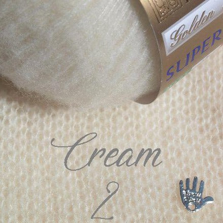 Soft cashmere cream for knitting