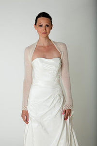 Bridal cashmere jacket knitted for your wedding white and ivory