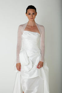 Knit bolero cashmere ivory and white for Brides