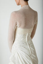 Load image into Gallery viewer, Knit bolero cashmere ivory and white for Bridal gowns