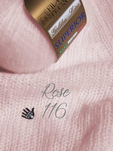 wedding sweater knitted with cashmere silk rose