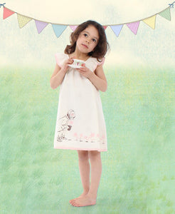 Summer dress for girls in cream for communion