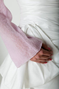 Bridal bolero with twist in the back made of cashmere for your wedding rose