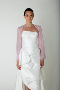 Bridal bolero with twist in the back made of cashmere for your wedding dress
