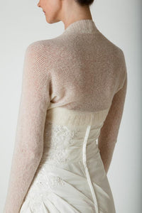 Bridal knit fashion made with soft wool ivory