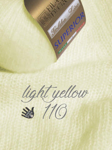 wedding sweater knitted with cashmere silk light yellow gold