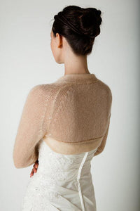 Knit Couture: Bridal bolero knitted for your wedding white, ivory, blush, pale blue, gold, pale brown