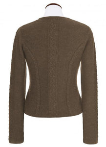 BONN brown from Spieth & Wensky knit jacket for traditional skirts from germany