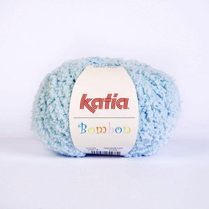 Bombon wool from katia white and pale blue