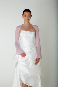 Bridal bolero with twist in the back made of cashmere for your wedding