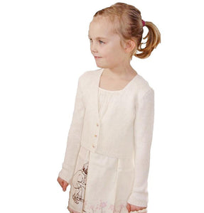 Jacket knitted in ivory for girls