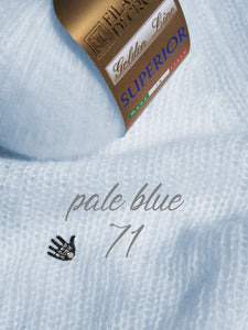 cashmere pale blue for knitting soft jackets