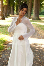 Load image into Gallery viewer, Bridal Bolero with your Letter Initials ebroidered in silver or gold