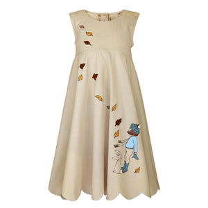 Summer dress for girls printed from belle and boo