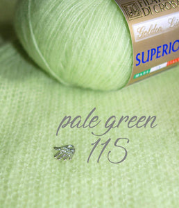 cashmere wool light green for knitting