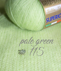 Wedding pullover made with cashmere silk for brides light green