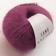 Load image into Gallery viewer, Angora wool from lany yarns with silk dark red for knitting