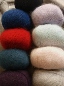Angora wool from lany yarns with silk order online beemohr