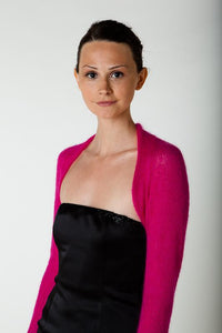 Bolero Knit Box in pink mohair for your festive jacket