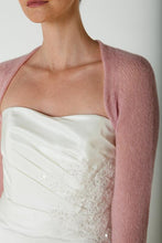 Load image into Gallery viewer, Cashmere bolero for brides with 3/4 sleeve for your bridal gown