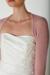 Knit Kit: wedding bolero white and ivory knitted for brides