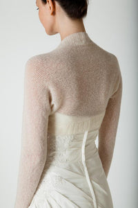 Cashmere knit bolero for bridal gowns