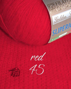 Cashmere pullover knitted red
