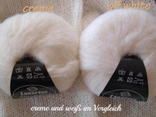Load image into Gallery viewer, Baby Alpaca with silk from lanartus for knitting bolero jackets ivory and cream