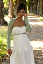 Load image into Gallery viewer, Wedding bolero knitted white, ivory, blush, pale green
