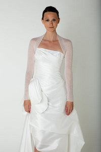Cashmere knit bolero for bridal gowns ivory