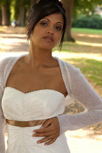 Load image into Gallery viewer, Knit Couture: Wedding bolero knitted for your wedding white, ivory, blush, pale brown