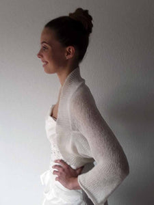Wedding knit jacket for bridal gowns ivory