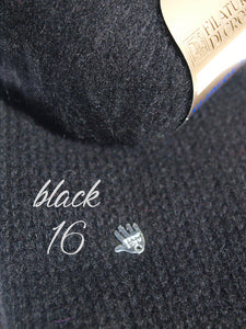 Cashmere pullover in black knitted