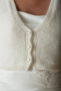 Knit Kit: knitting pattern and wool for your bridal jacket white