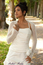 Load image into Gallery viewer, Bridal coverup made with cashmere and silk ivory
