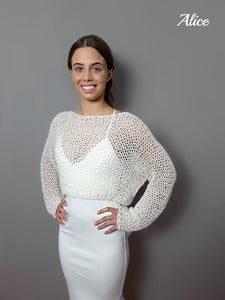 Knit Fashion for brides - handknitted pullover for your bridal gown
