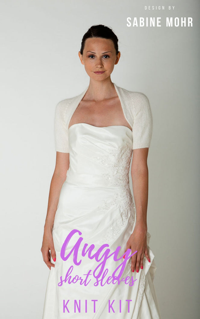 KNIT KIT ANGORA with short sleeve for your wedding dress: cosy & soft