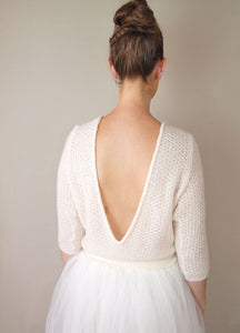 Bridal Knit sweater white and ivory for bridal gowns