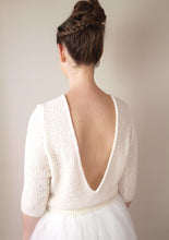 Load image into Gallery viewer, Knit sweater white and ivory for bridal gowns