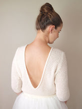 Load image into Gallery viewer, Wedding Knit sweater white and ivory for bridal gowns