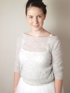 Knit sweater made with soft cashmere for brides