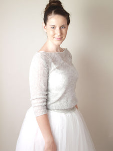 Knit sweater made with soft cashmere for weddings