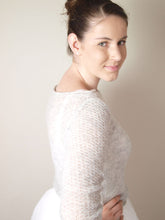 Load image into Gallery viewer, bridal knit pullover light cream with silk