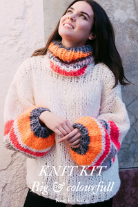 Knitting your colourful sweater with ingenious big