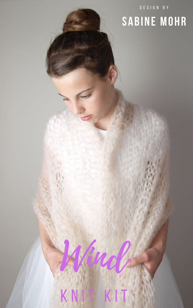 Bridal stole knitted in loose pattern for your wedding gown